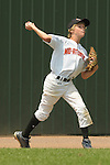 Jim Cavanaugh throws a ground ball hit to left field during the Brick, New Jersey v Tampa, Florida game at the 2009 Cal Ripken World Series