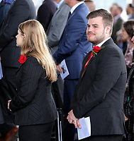 "Pictured: Welsh Government employees during the service. Wednesday 31 May 2017<br /> Re: The funeral for former first minister Rhodri Morgan has taken place in the Senedd in Cardiff Bay.<br /> The ceremony, which was open to the public, was conducted by humanist celebrant Lorraine Barrett.<br /> She said the event was ""a celebration of his life through words, poetry and music"".<br /> Mr Morgan, who died earlier in May aged 77, served as the Welsh Assembly's first minister from 2000 to 2009.<br /> He was credited with bringing stability to the fledgling assembly during his years in charge.<br /> It is understood Mr Morgan had been out cycling near his home when he died."