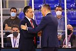 Liga ENDESA 2020/2021. Jornada: 32.<br /> FC Barcelona vs Baxi Manresa: 97-89.<br /> Pedro Martinez & Sarunas Jasikevicius.