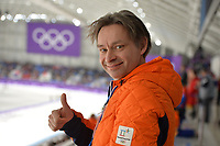 OLYMPIC GAMES: PYEONGCHANG: 14-02-2018, Gangneung Oval, Long Track, 1000m Ladies, Jeroen Otter, ©photo Martin de Jong