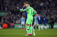 Keep Arrizabalaga of Chelsea talks to David Luiz of Chelsea as he refuses to be substituted during the Carabao Cup Final match between Chelsea and Manchester City at Stamford Bridge on February 24th 2019 in London, England. (Photo by Paul Chesterton/phcimages.com)<br /> Foto PHC Images / Insidefoto <br /> ITALY ONLY