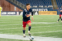 FOXBOROUGH, MA - OCTOBER 16: Collin Verfurth #35 of New England Revolution II during a game between North Texas SC and New England Revolution II at Gillette Stadium on October 16, 2020 in Foxborough, Massachusetts.