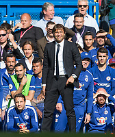 during the Premier League match between Chelsea and Arsenal at Stamford Bridge, London, England on 17 September 2017. Photo by Andy Rowland.