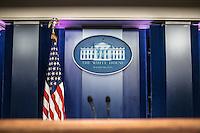The White House press room La sala stampa della Casa Bianca