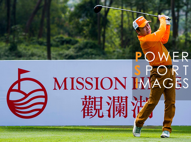 Player in action during the Hyundai China Ladies Open 2014 Pro-am on December 10 2014, in Shenzhen, China. Photo by Xaume Olleros / Power Sport Images