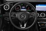 Car pictures of steering wheel view of a 2018 Mercedes Benz E Class Base 4 Door Sedan