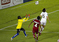 Action photo of Geralda Saintillius of Haiti. The US Women's National Team defeated Haiti 5-0 during the CONCACAF Women's World Cup Qualifying tournament at Estadio Quintana Roo in Cancun, Mexico on October 28th, 2010.