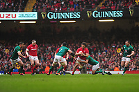 Pictured: Josh Navidi of Wales in action during the Guinness six nations match between Wales and Ireland at the Principality Stadium, Cardiff, Wales, UK.<br /> Saturday 16 March 2019