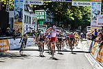 Alexander Kristoff (NOR) of Team Katusha wins sprint finish, 2nd Giacomo Nizzolo (ITA) and 3rd Simon Gerrans (AUS), Vattenfall Cyclassics, Hamburg, Germany, 24 August 2014, Photo by Thomas van Bracht