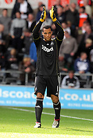 Pictured: Michel Vorm goalkeeper for Swansea. Saturday 17 September 2011<br /> Re: Premiership football Swansea City FC v West Bromwich Albion at the Liberty Stadium, south Wales.