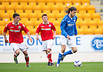 St Johnstone v Ross County....SPFL Development League...19.08.14<br /> Murray Davidson and Scott Ferries<br /> Picture by Graeme Hart.<br /> Copyright Perthshire Picture Agency<br /> Tel: 01738 623350  Mobile: 07990 594431