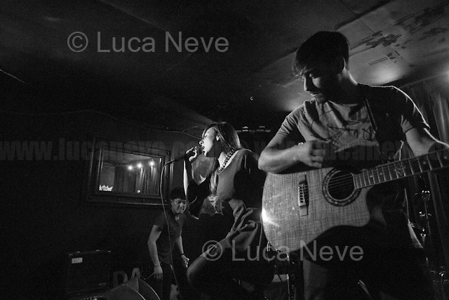 Laura Elle & Giovanni Dominici Playing at 'Shine On: The Best of Lee Harris' at Mau Mau Bar in Portobello.<br /> <br /> London, 01/04/2017. Today, Lee Harris and New Antique Records presented and celebrated the new album 'Shine on: The Best of Lee Harris' at the Mau Mau Bar in Portobello Road. Performers of the event, amongst others, were: Lee Harris, Paul Bangash, Nik Turner, The Higher Craft, So Versa and directly from Italy, Laura Elle and Giovanni Dominici.<br /> <br /> For more info and links about Laura Elle & Giovanni Dominici please click here: https://www.facebook.com/ellebornmusic/ & https://itunes.apple.com/it/album/renaissance-single/id1186857505 & https://open.spotify.com/artist/7pQ6dGVbsA25GAlD7udFtc & https://twitter.com/ellebornmusic & https://www.instagram.com/ellebornmusic/ & https://www.youtube.com/watch?v=Ffdtn8uacUo & https://www.instagram.com/dominicigiovanni/ & https://www.facebook.com/domenekke93<br /> <br /> For more info about the event please click here: https://www.facebook.com/events/262242637537191/ <br /> <br /> For more info about Lee Harris please click here: https://en.wikipedia.org/wiki/Lee_Harris_(South_African_artist) & http://www.homegrownmagazine.co.uk/ <br /> <br /> For more info about New Antique Records & the Album please click here: http://www.newantiquerecords.com/shineonleeharris/ & https://soundcloud.com/newantiquerecords