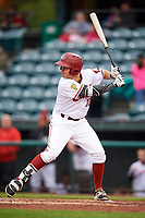Altoona Curve second baseman Kevin Kramer (37) at bat during a game against the New Hampshire Fisher Cats on May 11, 2017 at Peoples Natural Gas Field in Altoona, Pennsylvania.  Altoona defeated New Hampshire 4-3.  (Mike Janes/Four Seam Images)