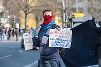 Etwa 200 Menschen (Polizeiangabe) protestierten am Samstag den 28. Maerz 2020 in Berlin-Kreuzberg gegen die Auswirkungen der Corona-Krise. Sie forderten auf Plakaten und Transparenten die Oeffnung der Gefluechtetenlager in Griechenland, das Obdachlose in Hotels untergebracht werden koennen, mehr Krankenschwestern statt Polizei, keine Bundeswehreinsaetze im Inneren und andere Themen.<br /> Nach ca. 15 Minuten traf die Polizei ein und die Demonstranten beendeten ihre Aktion.<br /> 28.3.2020, Berlin<br /> Copyright: Christian-Ditsch.de<br /> [NUR FUER REDAKTIONELLE ZWECKE! Werbung nur auf Anfrage beim Fotografen. Inhaltsveraendernde Manipulation des Fotos nur nach ausdruecklicher Genehmigung des Fotografen. Vereinbarungen ueber Abtretung von Persoenlichkeitsrechten/Model Release der abgebildeten Person/Personen liegen nicht vor. NO MODEL RELEASE! Don't publish without copyright Christian-Ditsch.de, Veroeffentlichung nur mit Fotografennennung, sowie gegen Honorar, MwSt. und Beleg. Konto: I N G - D i B a, IBAN DE58500105175400192269, BIC INGDDEFFXXX, Kontakt: post@christian-ditsch.de<br /> Bei der Bearbeitung der Dateiinformationen darf die Urheberkennzeichnung in den EXIF- und  IPTC-Daten nicht entfernt werden, diese sind in digitalen Medien nach §95c UrhG rechtlich geschuetzt. Der Urhebervermerk wird gemaess §13 UrhG verlangt.]