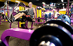 WATERBURY, CT 02 January 2008-010209SV01--Charles Kelly of Wolcott works out at Planet Fitness on Wolcott Street in Waterbury Friday.<br /> Steven Valenti Republican-American