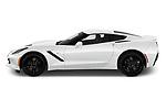 Car Driver side profile view of a 2019 Chevrolet Corvette-Stingray 3LT 2 Door Coupe Side View