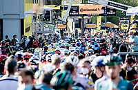 after finishing, the peloton turned around and rode back towards the team buses, turning the finish zone into a sea of (in-bubble) people...<br /> <br /> Stage 19 from Bourg-en-Bresse to Champagnole (167km)<br /> <br /> 107th Tour de France 2020 (2.UWT)<br /> (the 'postponed edition' held in september)<br /> <br /> ©kramon