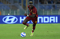 23rd September 2021;  Stadio Olimpicom, Roma, Italy; Serie A League Football, Roma versus Udinese; Tammy Abraham of AS Roma heads for goal in open field