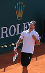 Michael Llodra (FRA) defeats Jerzy Janowicz (POL) 6-4, 6-1 at the Monte Carlo Rolex Masters tournament in Monte Carlo, Monaco on April 17, 2014.