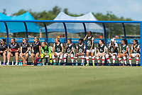 Bradenton, FL - Sunday, June 12, 2018: Canada bench prior to a U-17 Women's Championship 3rd place match between Canada and Haiti at IMG Academy. Canada defeated Haiti 2-1.