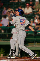 Reese Havens #52 of the St. Lucie Mets during a game against the Daytona Cubs at Jackie Robinson Ballpark on May 25, 2011 in Daytona Beach, Florida. (Scott Jontes / Four Seam Images)