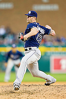 Tampa Bay Rays relief pitcher Kyle Farnsworth (43) delivers a pitch to the plate against the Detroit Tigers at Comerica Park on June 4, 2013 in Detroit, Michigan.  The Tigers defeated the Rays 10-1.  Brian Westerholt/Four Seam Images