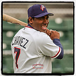 #OTD On This Day, April 28, 2005, Ender Chavez was an outfielder with the Potomac Nationals, shown here warming up before a game at Pfitzner Stadium in Woodbridge, Va. He later became a coach for the Columbia Fireflies in 2018. (Four Seam Images/Tom Priddy) #MiLB #OnThisDay #MissingBaseball #nobaseball #stayathome #minorleagues #minorleaguebaseball #Baseball #AloneTogether