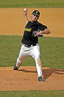 21 April 2007:University of Vermont Catamounts' Kyle Henry, a Junior from Brattleboro, VT, on the mound against the University of Hartford Hawks at Historic Centennial Field, in Burlington, Vermont. Henry pitched a complete 7-inning game and recorded his third win of the season as the Catamounts defeated the Hawks 3-2 to sweep the afternoon double-header...Mandatory Photo Credit: Ed Wolfstein Photo
