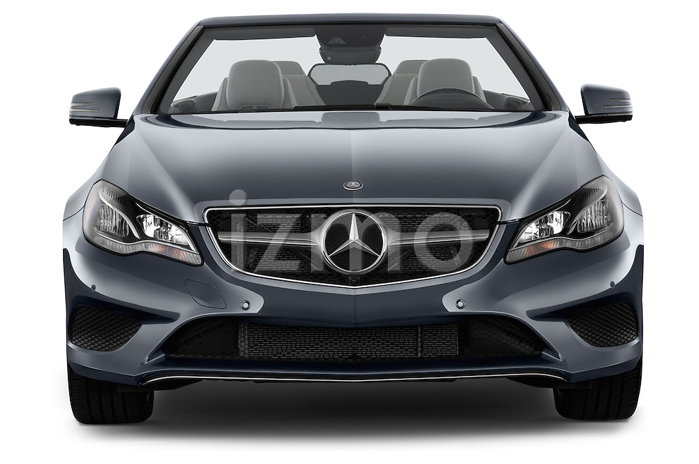 Straight front view of a 2014 Mercedes E Class 350 Convertible