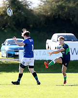Saturday 10th October 2020 | Ballynahinch vs Queens<br /> <br /> Greg Hutly during the Energia Community Series clash between Ballynahinch and Queens at Ballymacarn Park, Ballynahinch, County Down, Northern Ireland. Photo by John Dickson / Dicksondigital