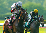 JUNE 04, 2021 : Baron Samedi (GB) with John Velazquez aboard, wins the Gr.2  Belmont Gold Cup Stakes, at 2 miles on the turf, at Belmont Park, Elmont, NY. Dan Heary-Eclipse Sportswire-CSM