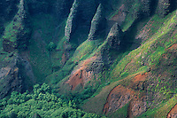 Na Pali Cliffs from Awa'awapui Trail, Kauai, Hawaii, US