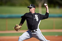 Chicago White Sox pitcher Colton Turner (34) during an Instructional League game against the San Francisco Giants on October 10, 2016 at the Camelback Ranch Complex in Glendale, Arizona.  (Mike Janes/Four Seam Images)
