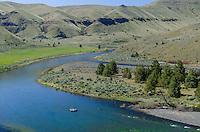 Rafting John Day River near 30 Mile Creek/Rattray Ranch.  Oregon  (No model release)