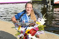 FIERLJEPPEN: WINSUM: 04-09-2021, FK Fierljeppen, Marrit van der Wal, ©foto Martin de Jong
