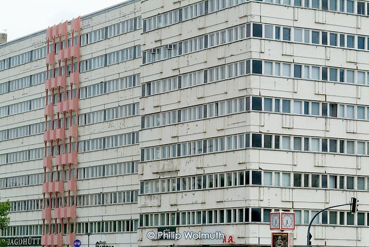 Apartment block in former East Berlin close to Alexanderplatz