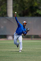 Toronto Blue Jays Chavez Young (57) during warmups before a Minor League Spring Training game against the Philadelphia Phillies on March 30, 2018 at Carpenter Complex in Clearwater, Florida.  (Mike Janes/Four Seam Images)