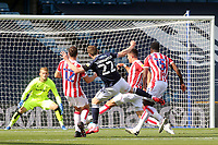 Jon Dadi Bodvarsson of Millwall takes a shot at the Stoke City goal during Millwall vs Stoke City, Sky Bet EFL Championship Football at The Den on 12th September 2020