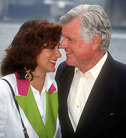 Ted Kennedy & wife 1992 Photo by Adam Scull-PHOTOlink.net