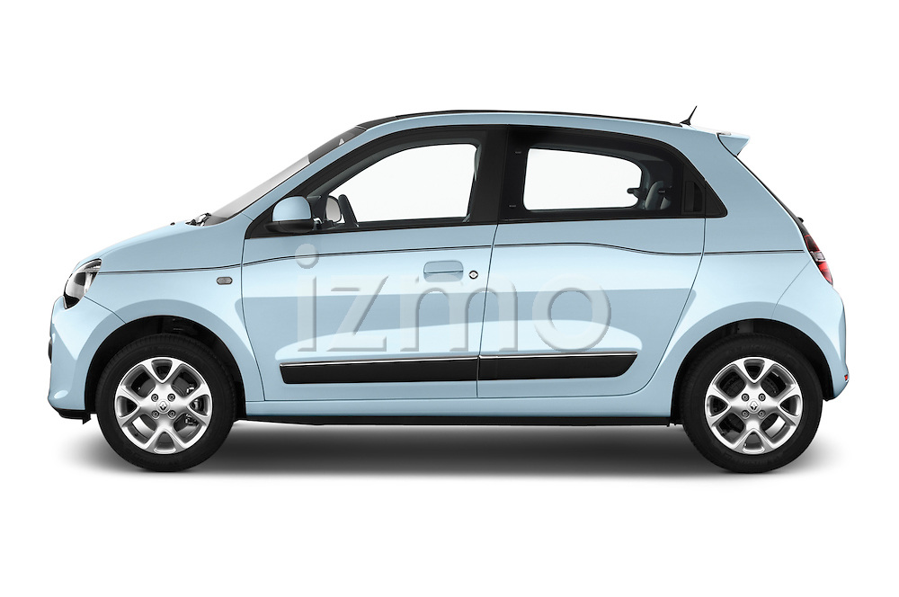 Car Driver side profile view of a 2015 Renault Twingo Intens 5 Door Hatchback 2WD Side View