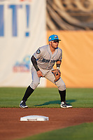 Hudson Valley Renegades second baseman Jonathan Aranda (2) during a game against the Auburn Doubledays on September 5, 2018 at Falcon Park in Auburn, New York.  Hudson Valley defeated Auburn 11-5.  (Mike Janes/Four Seam Images)