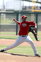 Juan Jaime #18 of the Arizona Diamondbacks plays in an extended spring training game against the Oakland Athletics at the Diamondbacks minor league complex on May 30, 2011  in Scottsdale, Arizona. .Photo by:  Bill Mitchell/Four Seam Images.