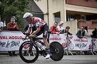 Toms Skujiņš (LVA/Trek - Segafredo)<br /> <br /> Stage 5 (ITT): Time Trial from Changé to Laval Espace Mayenne (27.2km)<br /> 108th Tour de France 2021 (2.UWT)<br /> <br /> ©kramon