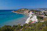Greece, Aegean Islands, Southern Sporades, Island Samos, Psili Ammos: View over beach on east of island | Griechenland, Aegaeis, Suedliche Sporaden, Insel Samos, Psili Ammos: Strand im Osten der Insel