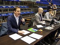 Rotterdam, Netherlands, December 20, 2015,  Topsport Centrum, Lotto NK Tennis, KNLTB rematch, speaker Alex Nelissen<br /> Photo: Tennisimages/Henk Koster