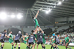 Connacht replacement Andrew Browne wins the line out ball.<br /> Guiness Pro12<br /> Ospreys v Connacht<br /> Liberty Stadium<br /> 31.10.14<br /> ©Steve Pope-SPORTINGWALES
