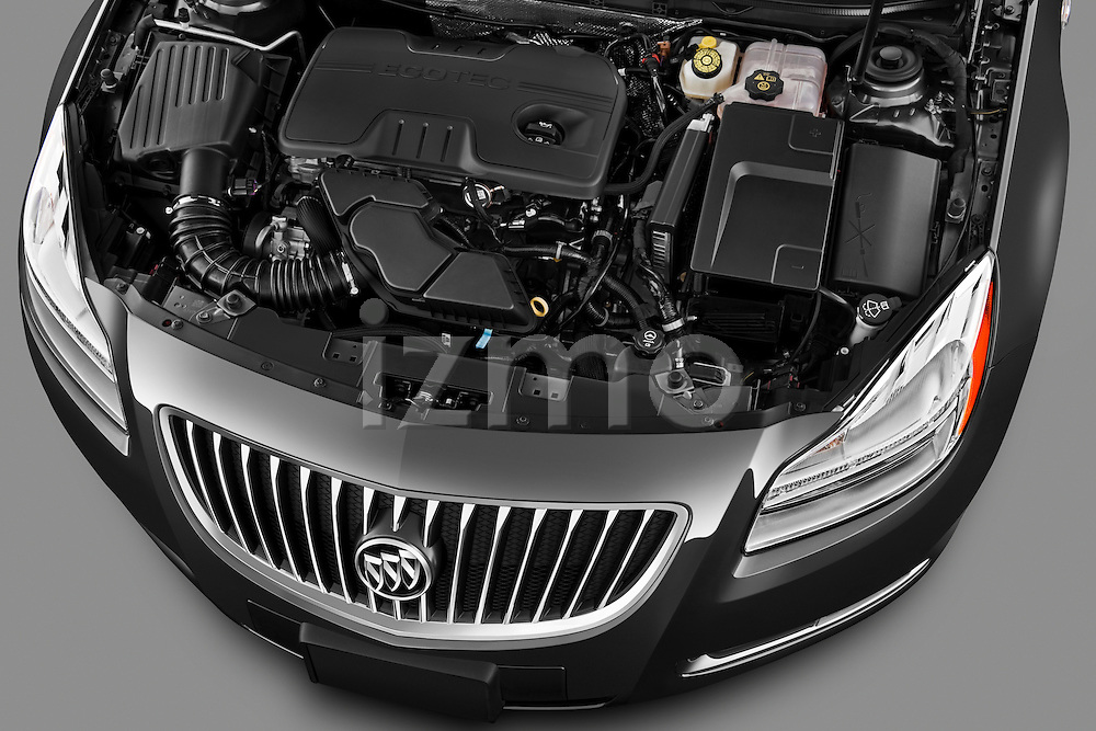 High angle engine detail of a 2011 Buick Regal CXL Sedan