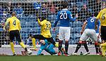 Ibra Sekajja score the equaliser for Livingston past Rangers keeper Lee Robinson