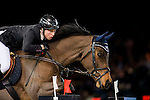 Martin Fuchs of Switzerland riding PSG Future in action during the Hong Kong Jockey Club Trophy competition as part of the Longines Hong Kong Masters on 13 February 2015, at the Asia World Expo, outskirts Hong Kong, China. Photo by Victor Fraile / Power Sport Images