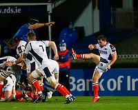 16th November 2020; RDS Arena, Dublin, Leinster, Ireland; Guinness Pro 14 Rugby, Leinster versus Edinburgh; Nic Groom of Edinburgh kicks the ball clear